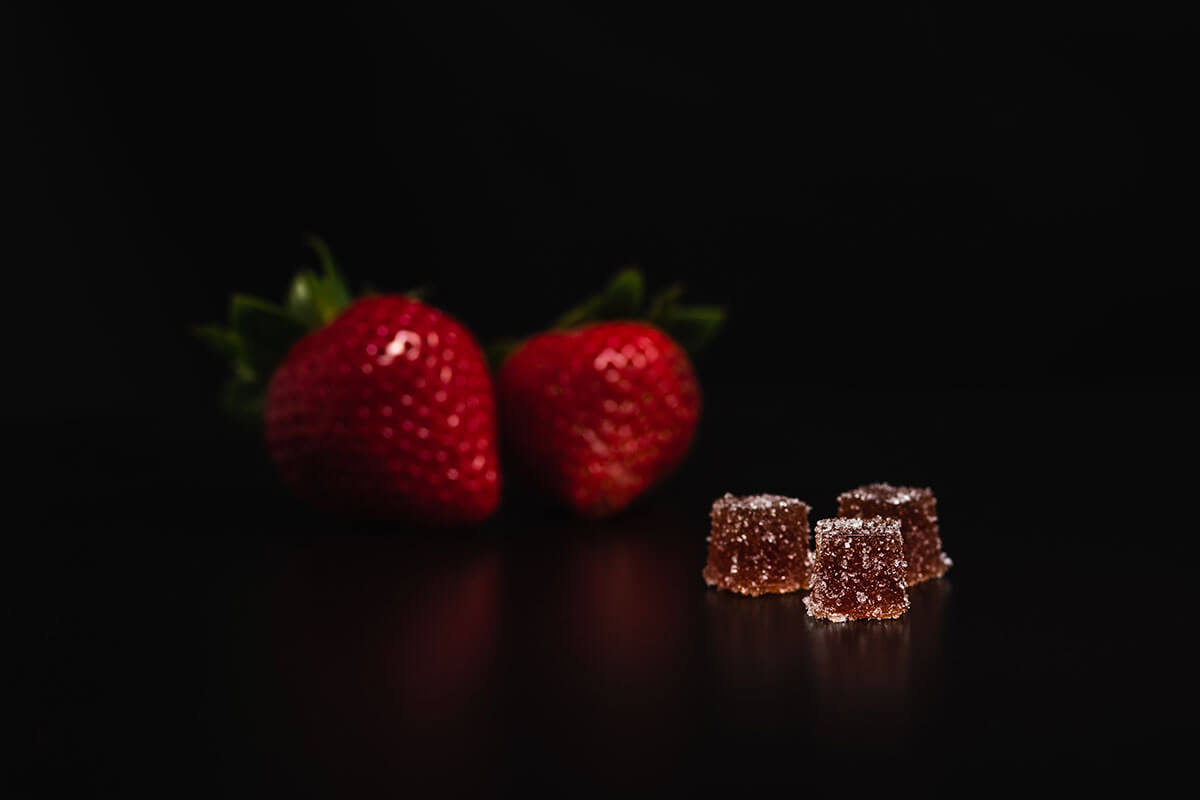 3Leaf's micro-dosed Strawberry Fruit Jellies are made with natural fruit-puree and have 2.5 milligrams of THC per edible. They're sold in packs of four so you can build on your dose to meet your needs.