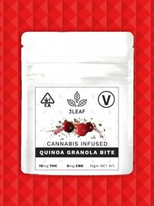 A package of 3Leaf's vegan edibles.