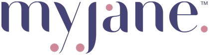 Image shows the logo for MyJane, a California cannabis delivery service that connects women with high-quality cannabis products, such as 3Leaf edibles.